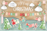 Merry Christmas Greeting Card - 184044291