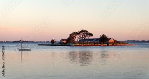 Staande foto Wit île Quistinic dans le golfe du Morbihan