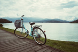 Bicycle with the beautiful view at the sun moon lake bike trail - 184052094