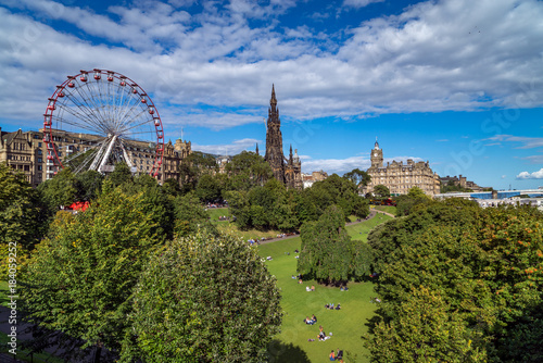 Foto op Aluminium Amusementspark East Princes Street Gardens, Edinburgh, Scotland