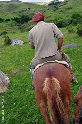 Plexiglas Paarden Gaucho argentin sur sa monture
