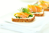 Salmon Snack with cream cheese - 184061453