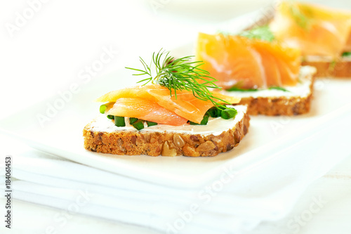 Salmon Snack with cream cheese