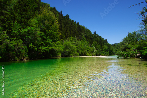 Plexiglas Bergrivier Landscape a river