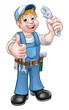 Cartoon Character Mechanic or Plumber - 184065269