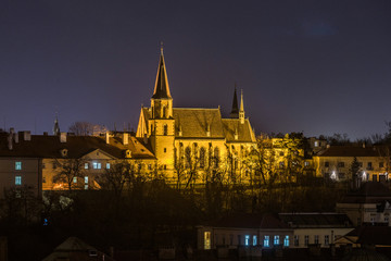 Scenic view of historical center Prague