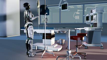 Roboter als Hilfskraft in einem Operationssaal der Zukunft
