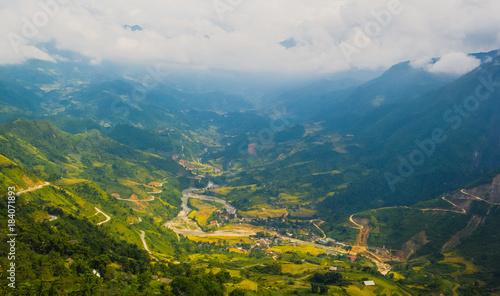 Foto op Aluminium Blauwe jeans landscape vietnam
