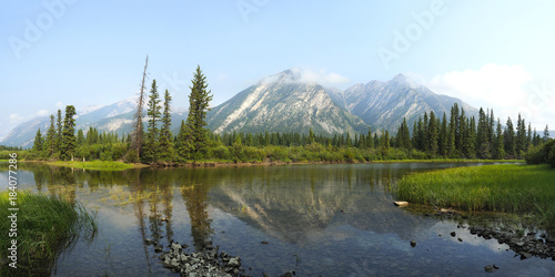 Foto op Canvas Canada Panoramic View from Sundance Canyon Trail, Banff National Park