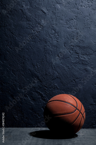 Plexiglas Basketbal basketball on a black background