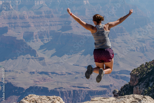 Deurstickers Arizona Leaping Over the Rim of the Grand Canyon
