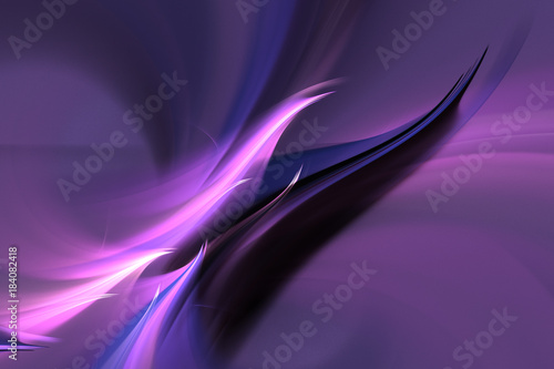 Tuinposter Abstract wave Violet plasma background