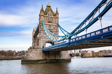 Tower Bridge, Skewed Angle, London, United Kingdom