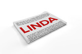 Linda on Newspaper background