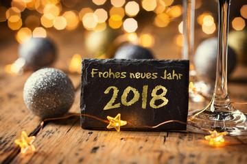 Frohes neues Jahr - Grußkarte Neujahr 2018