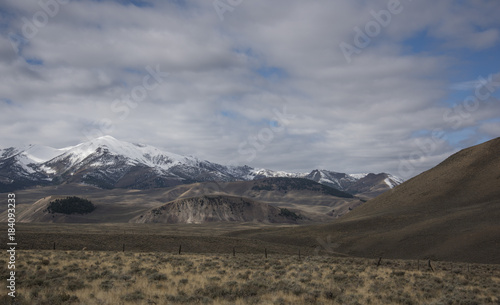Foto op Canvas Donkergrijs Copper Basin Horse Pasture