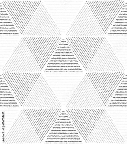 White, gray modern geometric texture. A seamless vector background. - 184094488