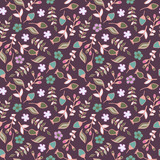 Floral Seamless Pattern, Vector - 184095268
