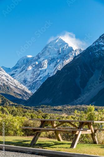 Foto op Canvas Blauw Aoraki Mt Cook Picnic