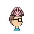 man head and brain icon