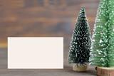 Blank Christmas card - 184097035