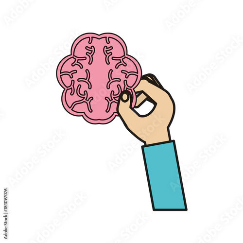 hand with brain icon