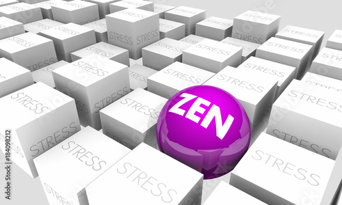 Zen Stress Relief Purify Relax Enlightenment 3d Illustration