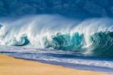 Big Shore break Ocean Wave in Hawaii