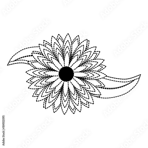 flower sticker vector illustration