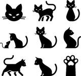 Cat Icons - Black Series