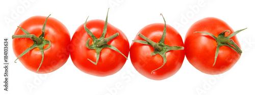 In de dag Verse groenten bunch of fresh cherry tomato on white background