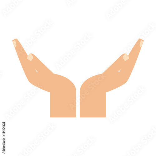 Human hand with palm open icon vector illustration graphic design