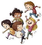 grupo de niños jugando - 184104876