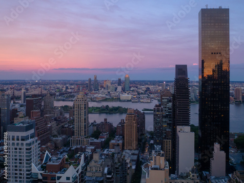 Staande foto New York New York City Sunset with Trump Tower