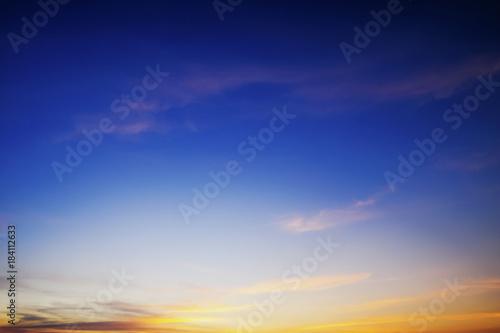 beautiful twilight sky background Poster