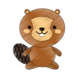 Cute squirrel cartoon icon vector illustration graphic design