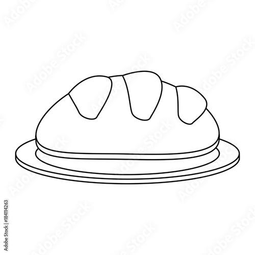 Fresh bread bakery icon vector illustration graphic design