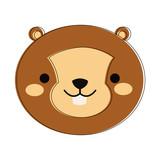 Cute squirrel cartoon icon vector illustration graphic design - 184114473