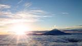 富士山と日の出と雲海