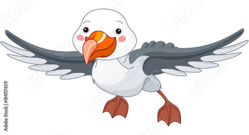 Deurstickers Sprookjeswereld Albatross