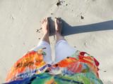 Sandy feet on the beach - 184121633