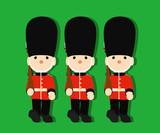 イギリスの近衛兵 おもちゃの兵隊 ベクター 03 Wall Sticker