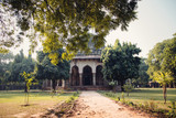 Indian temple. Lodi garden in Delhi - 184125075