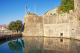Fortress of Old Town of Kotor. View of southern walls and the Gurdiс Bastion (1470). Montenegro - 184126854