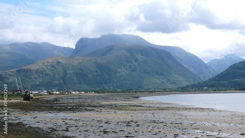 Keuken foto achterwand Blauwe hemel Schottland - Loch Linnhe - Corpach - Blick auf Ben Nevis