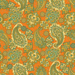 Paisley Pattern. Seamless Asian Textile Background - 184128860