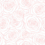 roses seamless vector pattern - 184128819