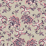 vintage floral seamless patten. Classic Baroque wallpaper. seamless vector background - 184128880