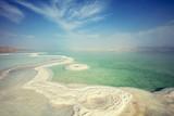 The texture of Dead Sea. Salty seashore. Israel - 184130034