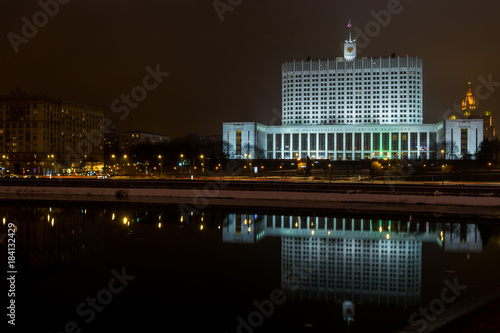Plexiglas Moskou The House of Government of Russia.